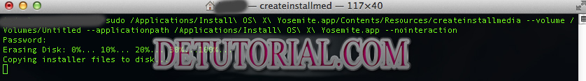 Tutorial Cara Membuat Bootable USB OS X Yosemite