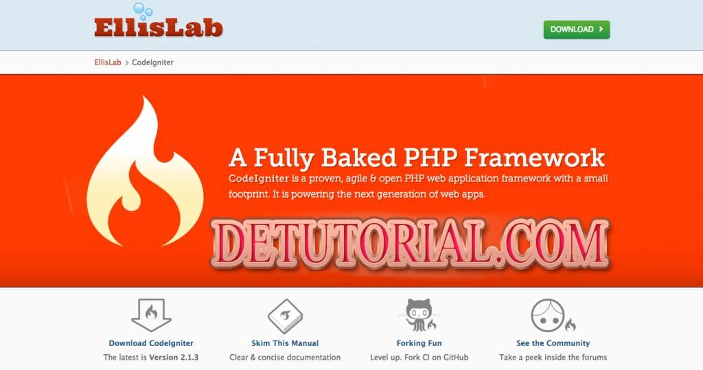 Cara Cepat dan Mudah Install CodeIgniter, php editor