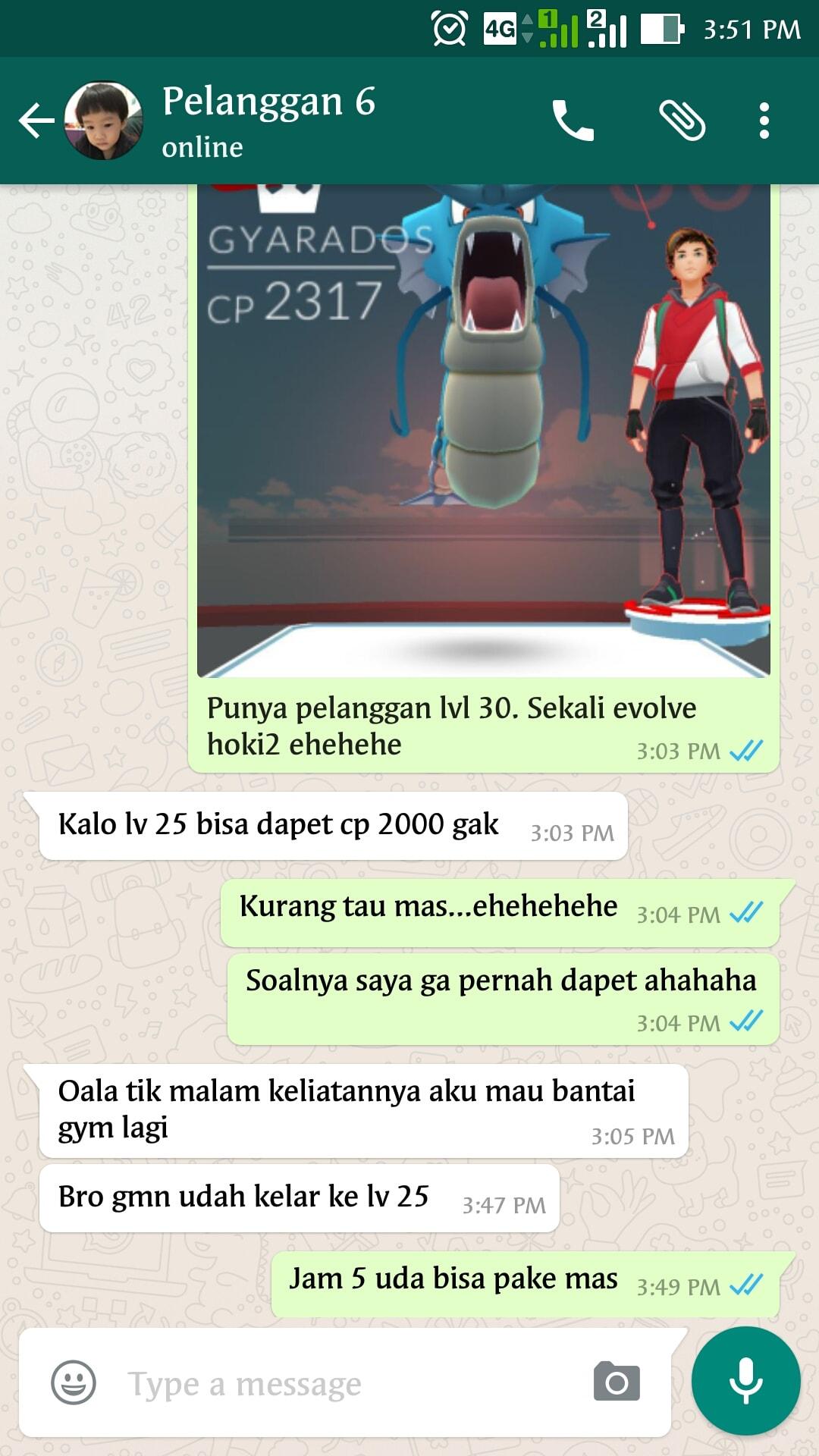 Bukti Testimonail Jasa Joki Pokemon Go 17
