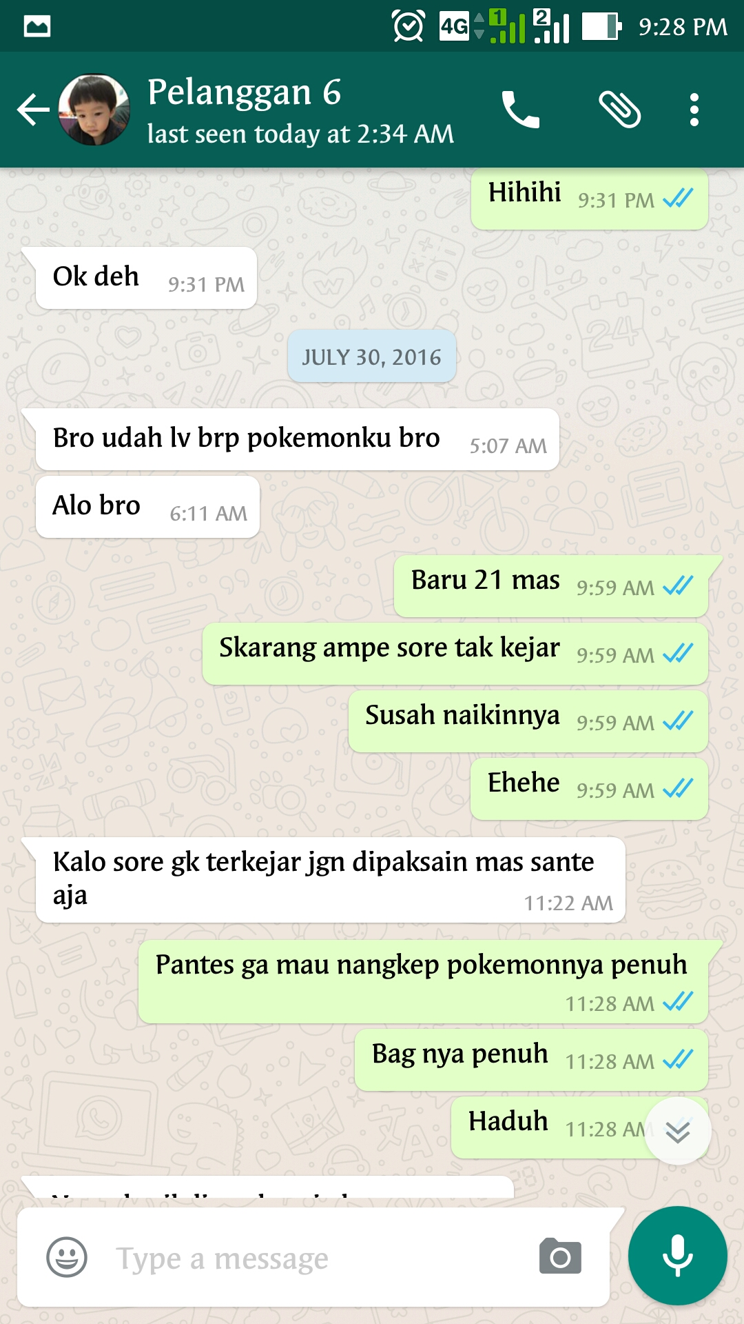 Bukti Testimonail Jasa Joki Pokemon Go 25