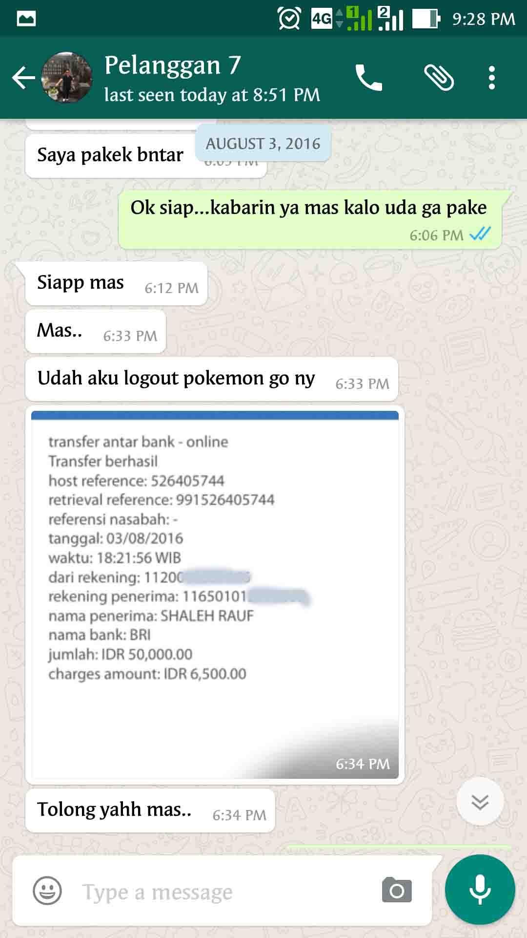 Bukti Testimonail Jasa Joki Pokemon Go 26