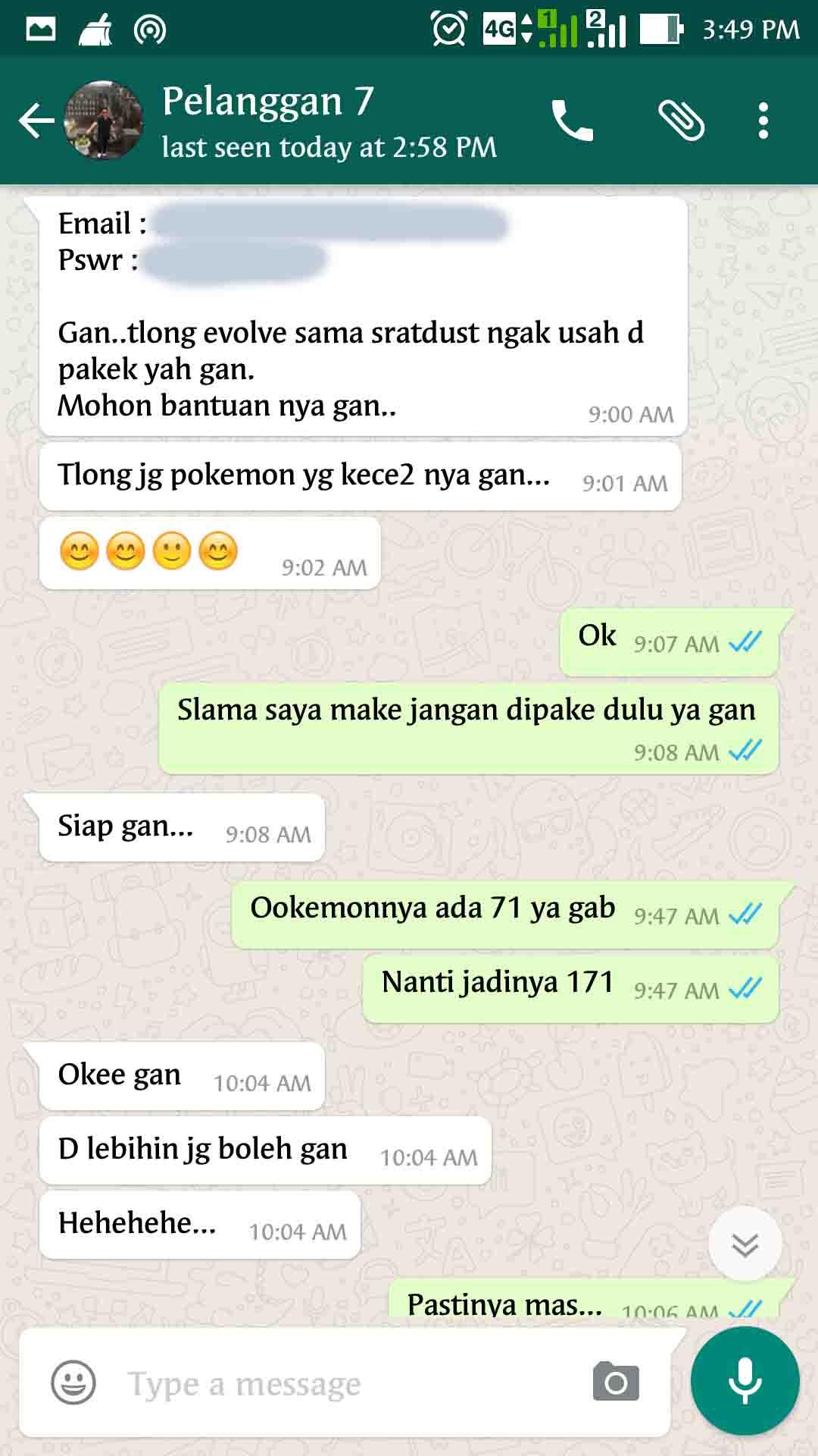 Bukti Testimonail Jasa Joki Pokemon Go 41