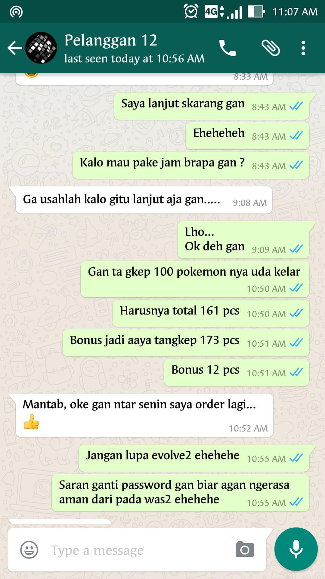 Bukti Testimonail Jasa Joki Pokemon Go 46