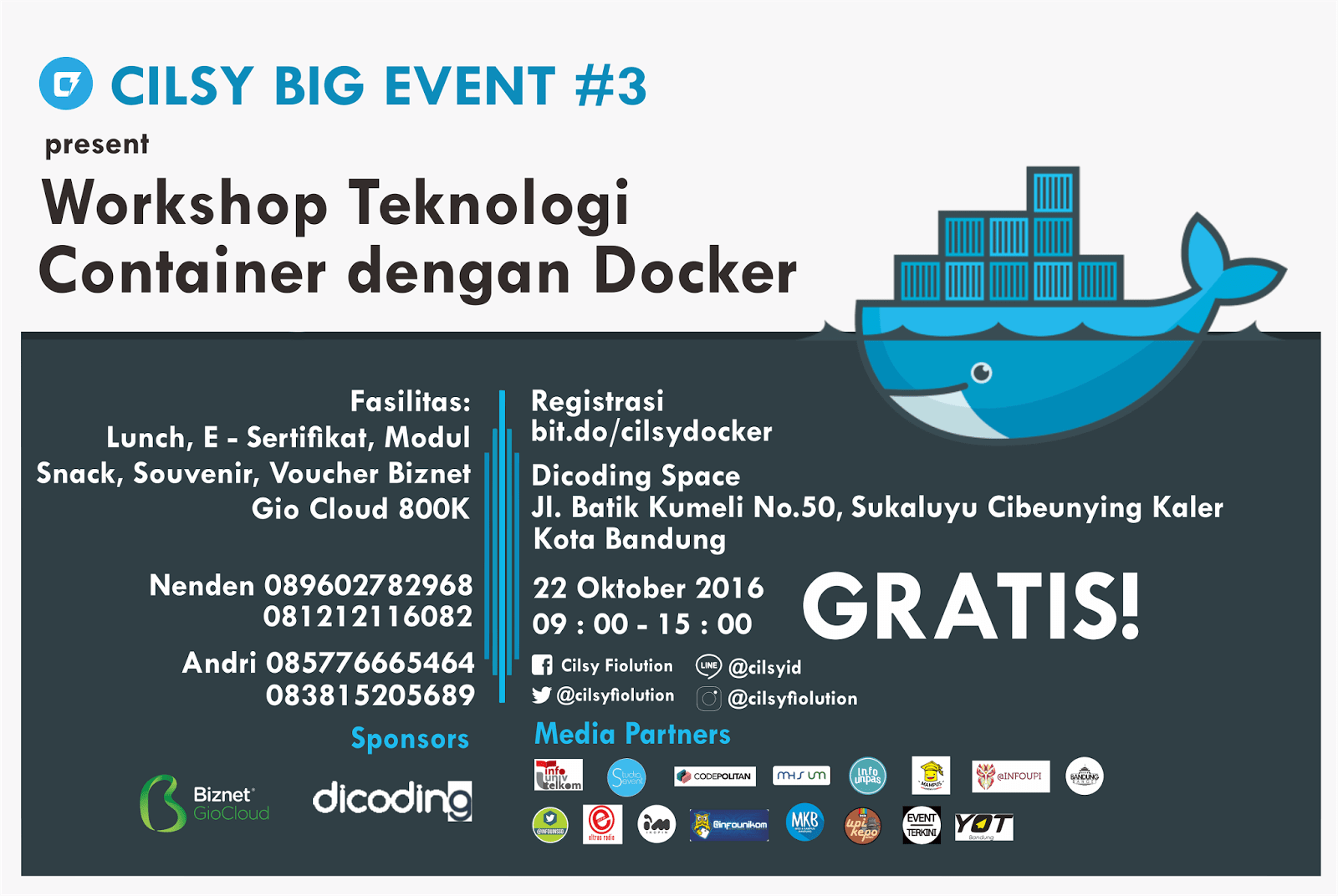 Cilsy Big Event 3 Workshop Teknologi Container dengan Docker