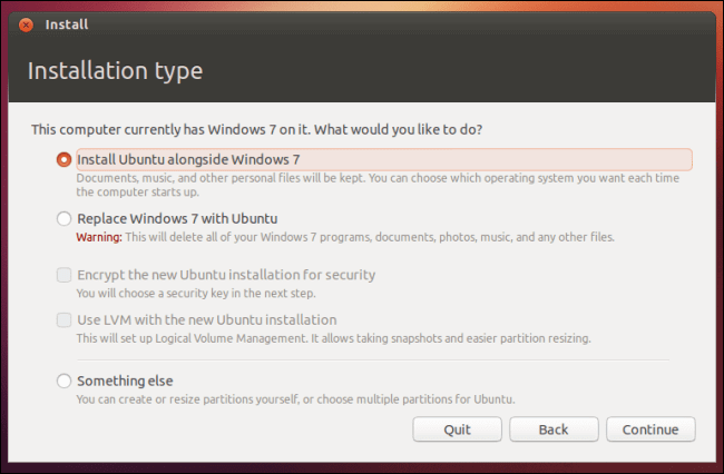 Dual-Boot Ubuntu Windows