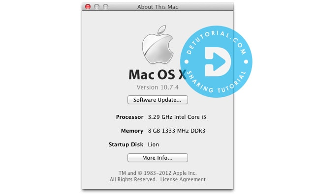 Download Mac OS X Lion 10.7.4 DMG Single Link Gdrive,Detail Teknis untuk Mac OSX Lion v10.7.4