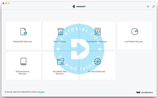 User Interface Filre RecoveryIt dari Wondershare