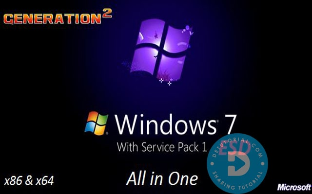 Fitur Windows 7 x86 x64 AIO 22in1 Update November 2019